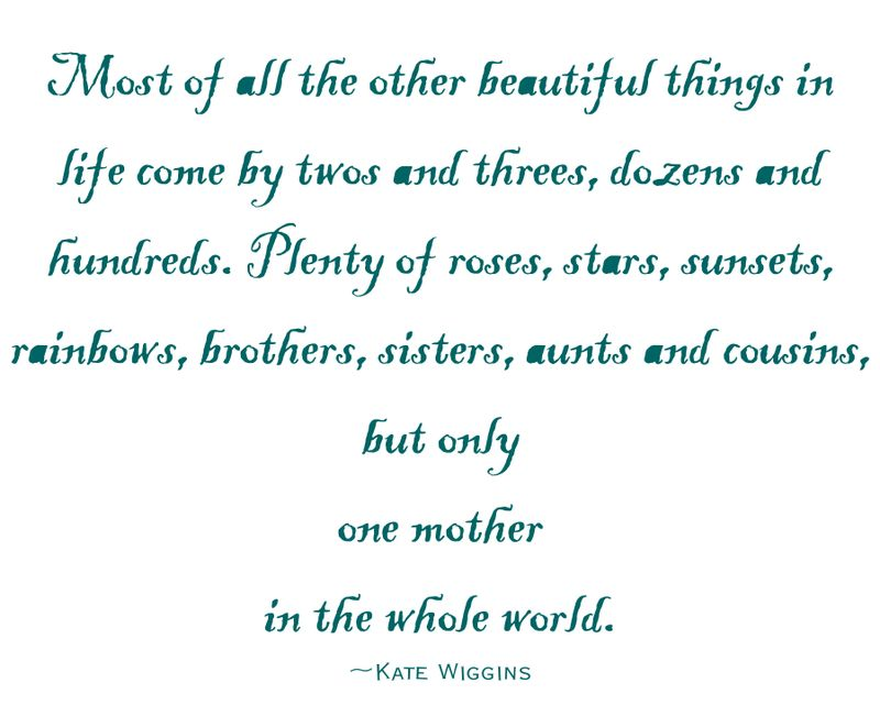 Only one mother