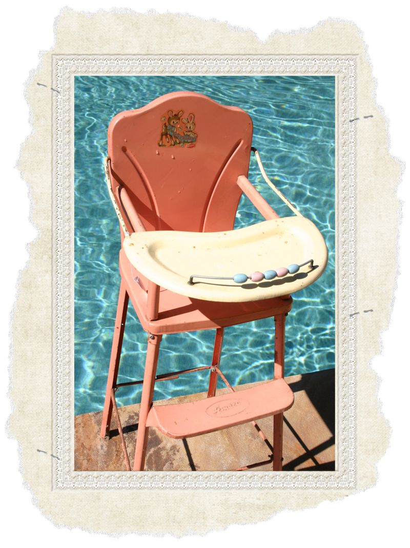 Pink high chair