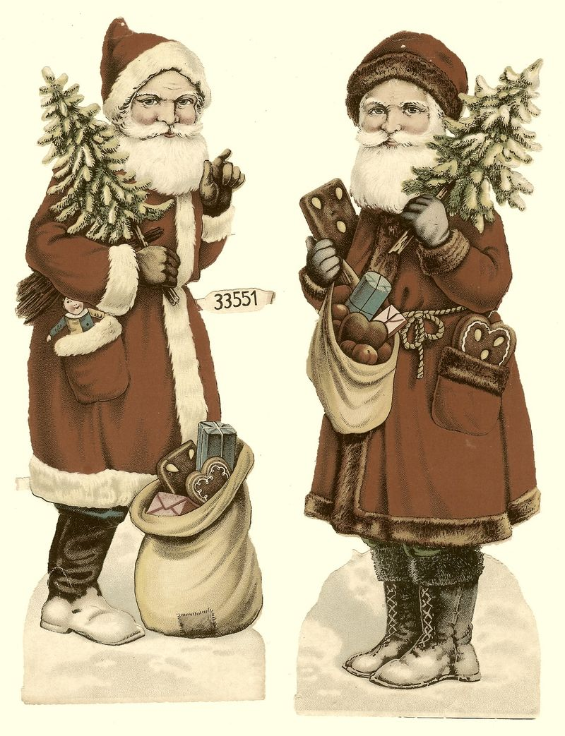Santa with sepia tones
