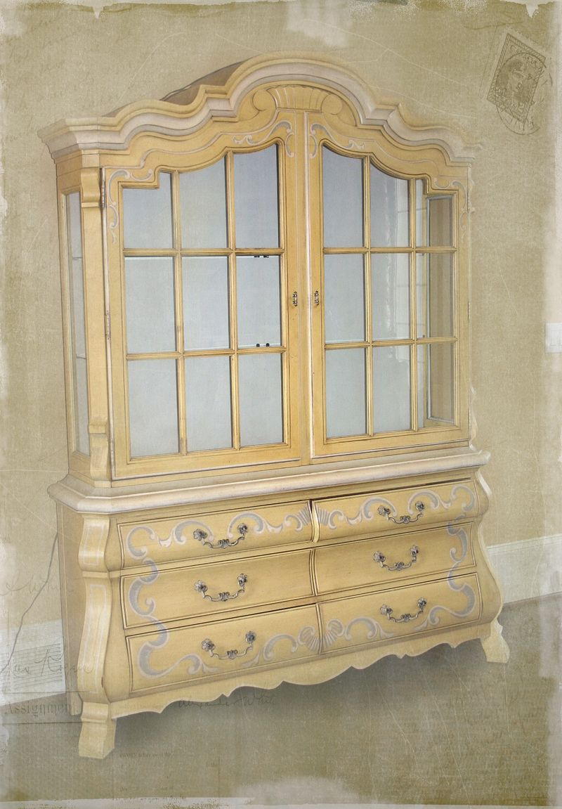 Myartsdesire new china cabinet